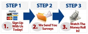 Get Cash For Surveys steps
